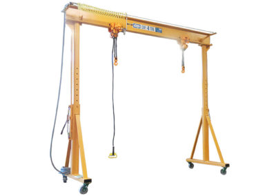 4 ton capacity portable gantry with two 2T air hoists